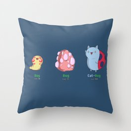 Catbug Evolution Throw Pillow