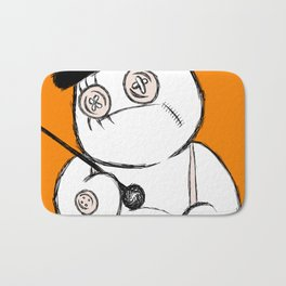 Patchwork Orange Bath Mat