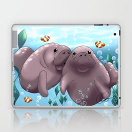 Manatee & Baby Laptop & iPad Skin