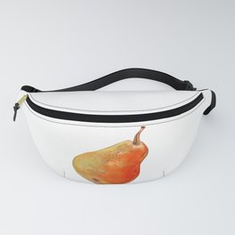 Ripe pear on white background drawing by pastel Fanny Pack