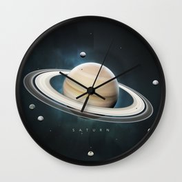 A Portrait of the Solar System: Saturn Wall Clock