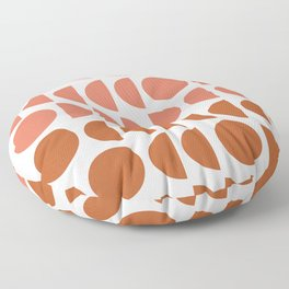Terracotta and Blush Shapes Floor Pillow