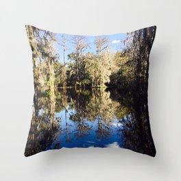 Mirror Swamp Charleston Plantation Throw Pillow