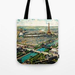Paris 1900 Panorama Tote Bag