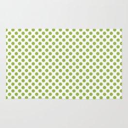 Kiwi Fruit Pattern Green Rug