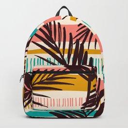 Tribal Tropical Leaf Pattern Backpack
