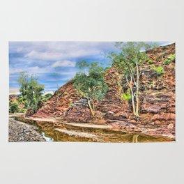 Rocks at Brachina Gorge, Flinders Ranges, Sth Australia Rug