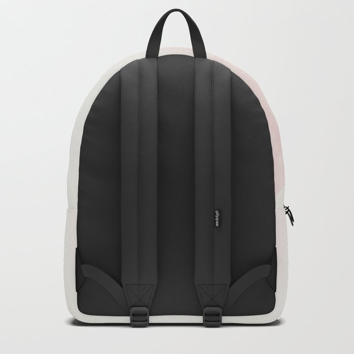Pink feathers on a soft pastel background - beautiful and dreamy Backpack