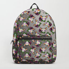 Chihuahua in White - Day of the Dead Sugar Skull Dog Backpack