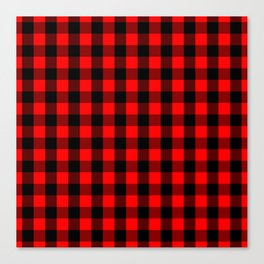 Classic Red and Black Buffalo Check Plaid Tartan Canvas Print