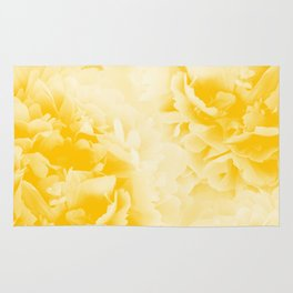 Yellow Peonies Dream #1 #floral #decor #art #society6 Rug