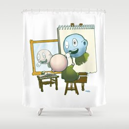 Baby Norman Zombiewell Shower Curtain