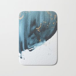Sapphire and Gold Abstract Bath Mat