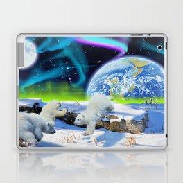 Joyful - Polar Bear Cubs and Planet Earth Laptop & iPad Skin