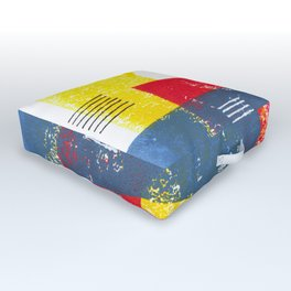 Basic in red, yellow and blue Outdoor Floor Cushion