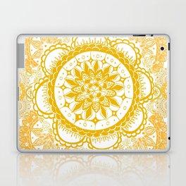 Orange Kaleidoscope Patterned Mandala Laptop & iPad Skin