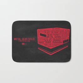 Metal Gear Solid Typography Bath Mat