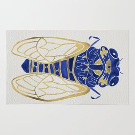 Cicada – Navy & Gold Rug