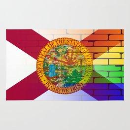 Gay Rainbow Wall Florida Flag Rug