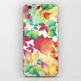 Watercolor Autumn Leaves iPhone Skin