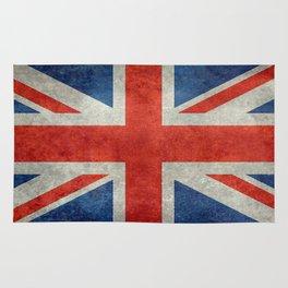 British flag of the UK, retro style Rug