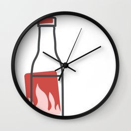 Hot Sauce Wall Clock