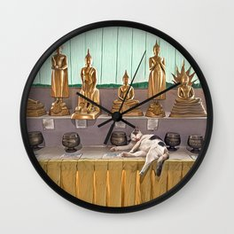 Big Buddha Cat - Thailand Wall Clock