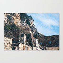 Homes of La Roque-Gageac Canvas Print