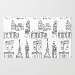 Europe at a glance Rug
