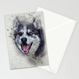 Beautiful husky Stationery Cards