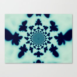 Bee Silhouette Tapestry Canvas Print