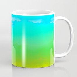 Aqua Abstract Skyline Coffee Mug