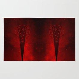 Devil Woman Pentagram Rug