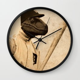 Baseball Velociraptor Wall Clock