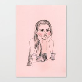 Rosy cheeks Canvas Print