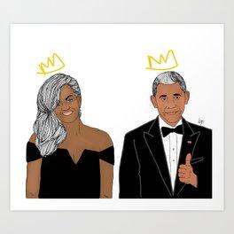 The Obamas Art Print