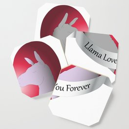Llama Love You Forever in Color Coaster