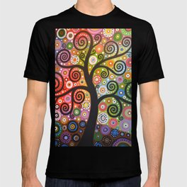 Abstract Art Landscape Original Painting ... Tree of Wishes T-shirt