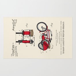 Motorcycle Sidecar Patent 1912 Rug