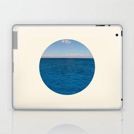 Water & Sky Horizon Round Photo Laptop & iPad Skin