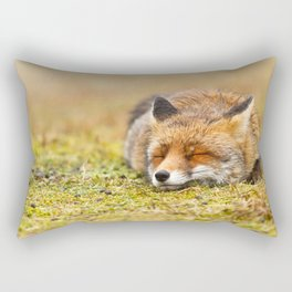 Comfortably Fox (red fox sleeping) Rectangular Pillow