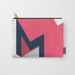 Letters M - geometric Carry-All Pouch