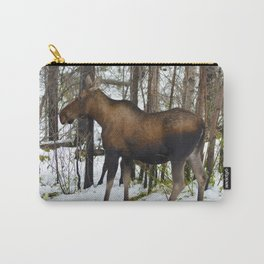 Mother mosse in the snow, Jasper National Park Carry-All Pouch