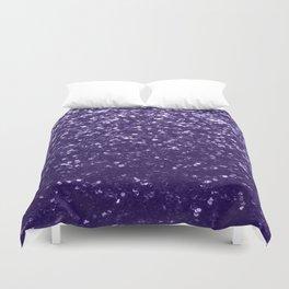 Dark ultra violet purple glitter spakles Duvet Cover