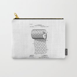patent art Wheeler Process of ornamenting paper 1893 Carry-All Pouch