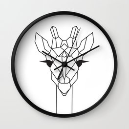 raya goods : jamie the giraffe Wall Clock