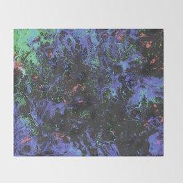 Purple Webbed Fog Throw Blanket