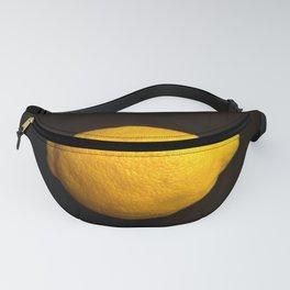 Yellow Lemon On A Black Background #decor #society6 Fanny Pack