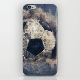 Abstract Grunge Soccer iPhone Skin