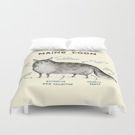 Anatomy of a Maine Coon Duvet Cover